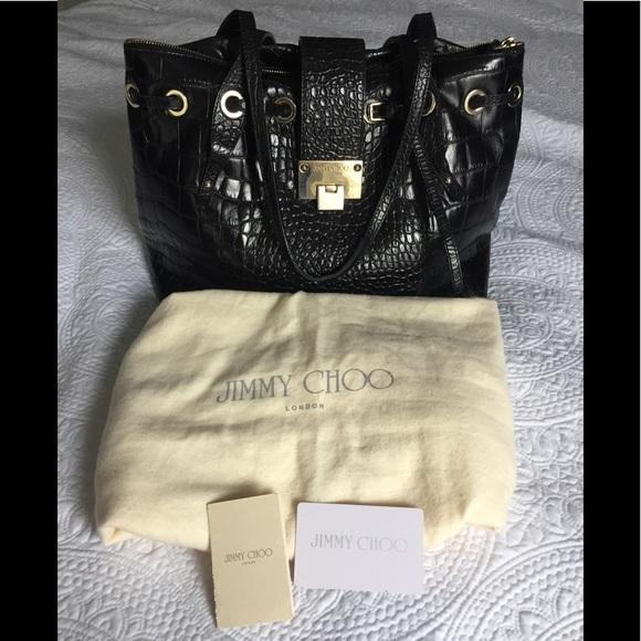 867d19b8c6 Jimmy Choo Bags   Auth Crocodile Black Rhea Purse   Poshmark